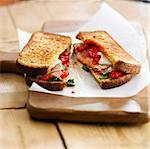 Serrano ham and ewe's cheese toasted sandwich