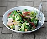 Broccoli and coppa salad