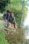 Père et fils de rivière