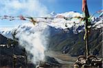 Gamme Annapurna et vallée de la rivière Marsyangdi de Tare Gomba, Manang, Annapurna Conservation Area, Gandaki, Pashchimanchal, Népal