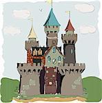 Color book palace fairy tale