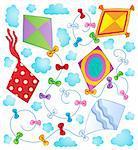 Kites theme image 1 - vector illustration.