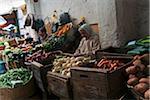 Vegetable Vendors at Street Market, Medina, Tetouan, Morocco