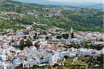 Vue d'ensemble de la ville, la Province de Chefchaouen, Chefchaouen, région de Tanger-Tétouan, Maroc
