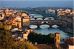 Bridges over Arno River, Florence, Tuscany, Italy