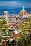 Basilica di Santa Maria del Fiore and City, Florence, Tuscany, Italy
