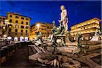 Fontaine de Neptune à la Piazza della Signoria, Florence, Toscane, Italie