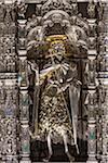 Détail d'autel d'argent au Musée du Duomo, la Basilique de Santa Maria del Fiore, Florence, Toscane, Italie