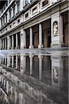 Außenseite der Uffizi Galerie, Florenz, Toskana, Italien