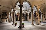 Inner Courtyard of Palazzo Medici Riccardi, Florence, Tuscany, Italy
