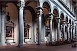 Interior of Santo Spirito Basilica, Florence, Tuscany, Italy