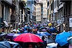 Busy Street on Rainy Day, Florence, Tuscany, Italy