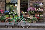 Bicycle Outside Shop, Florence, Tuscany, Italy