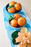 Mandarin oranges on a platter