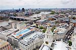 High angle view of London