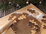 Lebkuchen-Gebäck, Konditorei Cutter und Nudelholz
