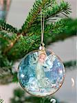 Gros plan de décoration de Noël