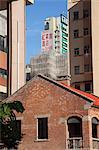 Residential buildings at Shanghai Street, Yaumatei, Kowloon, Hong Kong