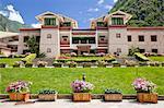Tourist Center am Eingang des Jiuzaigou szenischen Bereich, Sichuan, China
