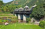 Cheng Yang vent & pluie pont, Sanjiang, Province de Guangxi, Chine