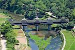 Cheng Yang vent & pluie pont sur la rivière Linxi, Sanjiang, Province de Guangxi, Chine