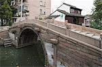 A footbridge over canal on Pingjiang Rd., Suzhou, Jiangsu Province, China