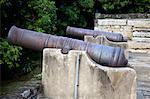 Cannon exhibited at Tung Chung Fort, Tung Chung, Hong Kong