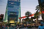 Civic Square, au crépuscule, Kowloon, Hong Kong