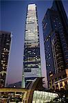 ICC datant de Union Square, west Kowloon, Hong Kong