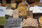 Assorted dried foodstuff store at Taipo market, Taipo, Hong Kong