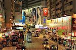 Disponibilité de Causeway Bay Hong Kong la nuit,