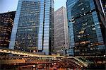 Édifices commerciaux de Central nuit, Hong Kong