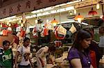 Einkaufen in Wanchai Markt, Wanchai, Hong Kong