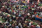 Inside food market, Chichicastenango Market, Chichicastenango, Guatemala, Central America