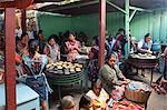 Preparing lunch, Chichicastenango Market, Chichicastenango, Guatemala, Central America