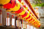 Couleurs vives des lanternes chinoises à Kek Lok Si Temple, Penang, Malaisie, Asie du sud-est, Asie