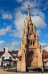 Clocktower and Town Square, Stratford-upon-Avon, Warwickshire, England, United Kingdom, Europe