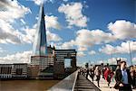 Vue du pont de Londres montrant l'éclat en arrière-plan, Londres, Royaume-Uni, Europe