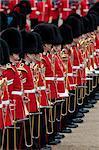 Soldats à la parade de la couleur 2012, défilé anniversaire de la Reine, Horse Guards, Whitehall, Londres, Royaume-Uni, Europe