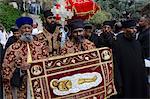 Vendredi Saint éthiopien célébrations, Jérusalem, Israël, Moyen-Orient