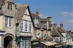 Voir retrait High Street, Burford, Oxfordshire, Angleterre, Royaume-Uni, Europe