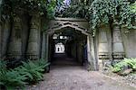 Entrance to Egyptian Avenue, Highgate Cemetery West, Highgate, London, England, United Kingdom, Europe