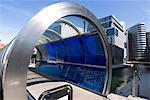 Die neue architektonische Entwicklung neben der Paddington-Becken, Teil des Regent's Canal, London W2, England, Vereinigtes Königreich, Europa