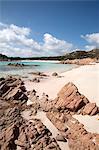 Spiaggia Rosa (rose plage) sur l'île de Budelli, îles de la Maddalena, La Maddalena National Park, Sardaigne, Italie, Méditerranée, Europe