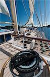 Étoile voile Clipper cruise ship, Terre de Haut, Iles des Saintes, Guadeloupe, Antilles, Antilles françaises, France, Amérique centrale
