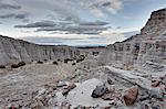 Badlands de White rock, Carson National Forest, Nouveau-Mexique, États-Unis d'Amérique, l'Amérique du Nord