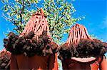 Coiffure de Himba femmes, Kaokoland, Namibie, Afrique