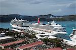 Cruise ships. Charlotte Amalie, St. Thomas, U.S. Virgin Islands, West Indies, Caribbean, Central America