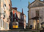 Téléphérique dans la vieille ville, Lisbonne, Portugal, Europe