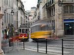 Tramway de la vieille ville, Lisbonne, Portugal, Europe
